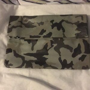 Camouflage Genuine leather clutch/ sack bag